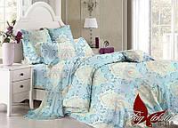 Комплект постельного белья сатин евро TM Tag 118