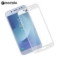 Защитное стекло Mocolo для Samsung J5 2017 / J530 полноэкранное белое
