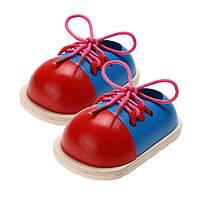 1шт детей развивающие игрушки деревянные игрушки для малышей шнуровка ботинок детей раннего образования Trainning