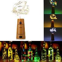 75см 15 LED пробка бутылку пробкой свет стекло вино медный провод фея строка для Xmas венчания партии