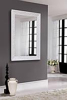 Зеркало в блестящей белой раме 400х600