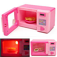 Пластиковые розовые дети микроволновая печь дети девочек домой ролевые игры делают вид игры игрушки