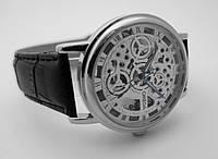 Мужские часы Omega - skeleton, механика с автозаводом, серебристый