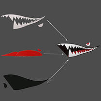 150cmx50cm акулы месяц зубы винил стикер тела автомобиля внешний вид царапины крышка деколи водонепроницаемый, фото 3