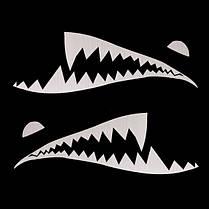150cmx50cm акулы месяц зубы винил стикер тела автомобиля внешний вид царапины крышка деколи водонепроницаемый, фото 2