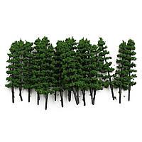 20шт 1:100 елками модель поезда дорога улица зеленый парк сад декорации хо оо п