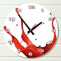 "Настенные часы  - ""Брызги краски"" (на пластике)"
