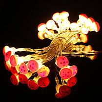 2m 20 LED Гриб фея провод свет шнура батареи открытый сад рождественской вечеринки декор, фото 2