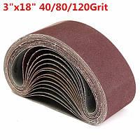 15 штук 3 * 18 дюймов 40/80/120 крупки шлифовальные ленты 75x460mm абразивные ленты шлифовальные