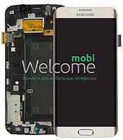 Дисплей (экран) + сенсор (тач скрин) Samsung SM-G925F Galaxy S6 Edge white pear (оригинал)