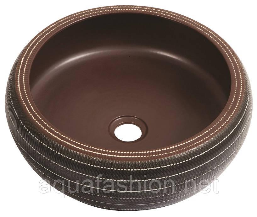 Дизайнерський круглий умивальник чаша 42 см Newarc 5062