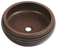Дизайнерський круглий умивальник чаша 42 см Newarc 5062, фото 1