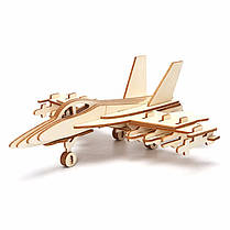 3D Jigsaw Aircraft Woodcraft Assembly Handicraft Home Decor DIY Модель Puzzle IQ Challenger, фото 2