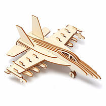 3D Jigsaw Aircraft Woodcraft Assembly Handicraft Home Decor DIY Модель Puzzle IQ Challenger, фото 3