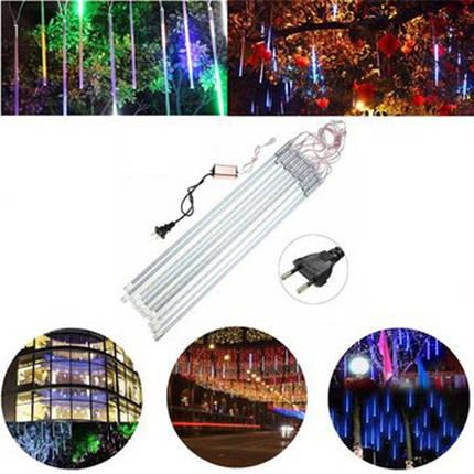 50см 10tubes 540 LED метеоритный ливень дождь свет рождества Xmas дерево декор с водителем ес штекером, фото 2