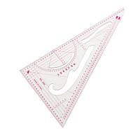 Прозрачный пластик портной ремесло одежды рисунок треугольной формы масштабной линейки
