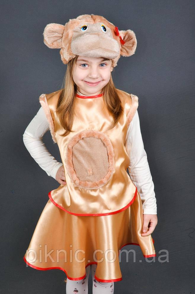 Детский карнавальный костюм Обезьяна для девочки 5-7 лет. маскарадный костюм Мавпа