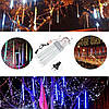 10tubes 30см 300 LED метеоритный дождь дождь свет Рождественские декор Xmas Tree с водителем штепсельной вилкой США