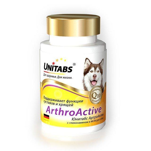 АРТРОАКТИВ ЮНИТАБС ARTHROACTIVE UNITABS витамины с глюкозамином и МСМ для суставов связок собак, 100 таблеток