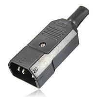 10a / 250v черный КЦДС c14 штекер разъем rewirable питания 3-контактный разъем