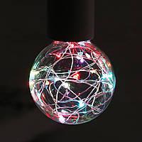 Kingso Edison LED лампочки RGB глобус вздутие красочные декоративное освещение AC85-265V E27 G80