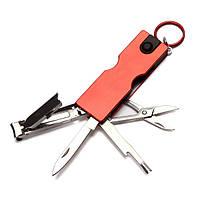 8 в 1 Multitool Manicure Инструмент Ногти Принадлежности для стрижки для ключей Ногти File Cleaner LED Фонарик
