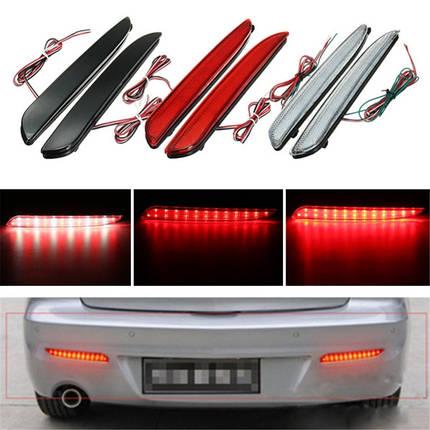 2 штук LED задний бампер указатель поворота свет тормоз хвост прекратит работу лампы для Mazda 3 2010-2013, фото 2