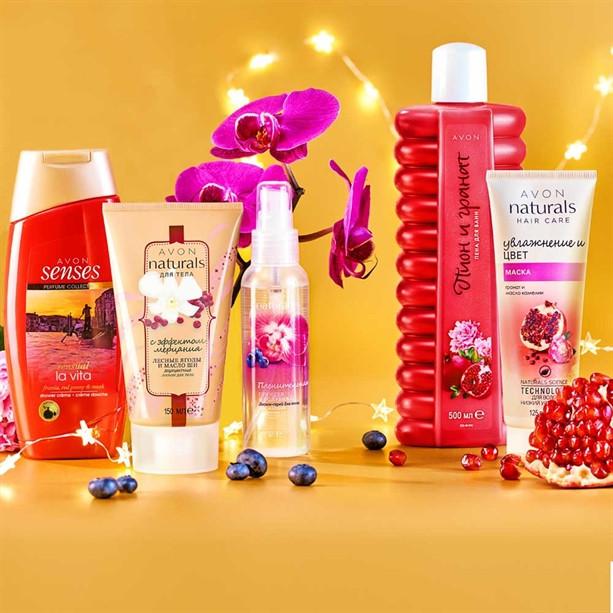 Подарунковий набір Avon з 5-ти продуктів «Святкове диво»