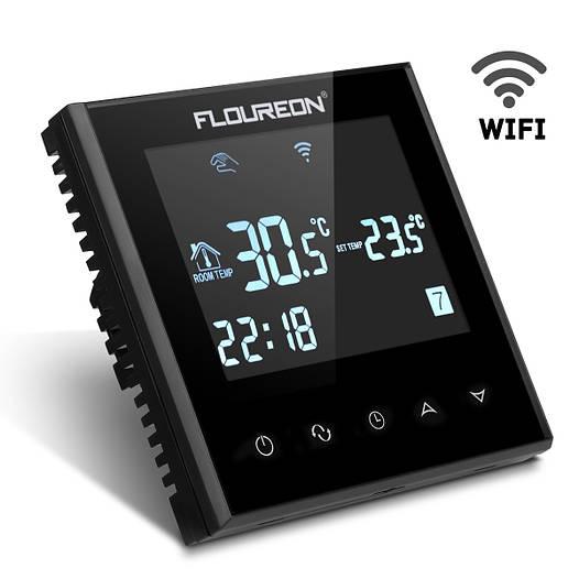 Floureon Smart Wi-Fi. Терморегулятор сенсорный c Wi-Fi модулем для теплого пола.