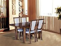 Стол раскладной Петрос темный орех, РАСКЛАДНОЙ, кухонный, гостиный, прямоугольный