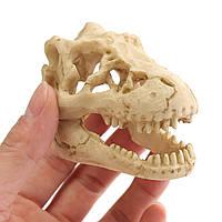 Аквариума смолы крокодил череп аквариума орнамент террариум украшение рептилии