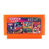 402 в 1 8-битных игр картридж воздушный волк Книга джунглей для NES чорный FC