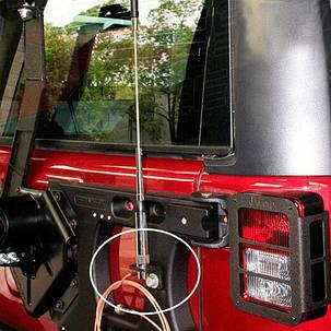 Черный автомобиль задняя дверь задняя дверь антенна кронштейн для Jeep Wrangler 2007-2016, фото 2