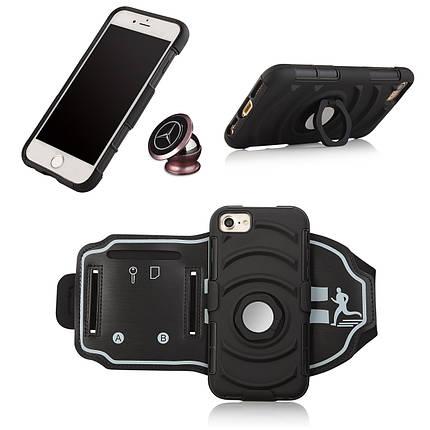 3 в 1 спортивная повязка напульсник кольцо кронштейн крышки случая магнитный телефон iPhone 7/6S/6, фото 2