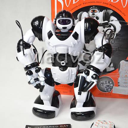 Робот на пульте управления радиоуправляемая игрушка Robowisdom белый с черным, фото 2
