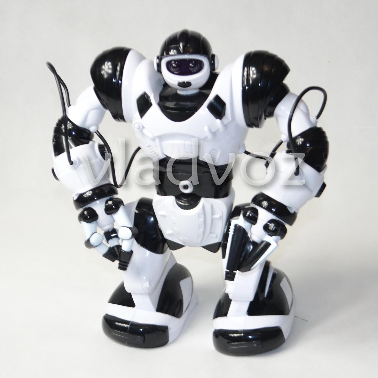 фото робота на пульте управления радиоуправляемая игрушка Robowisdom белый с коробкой