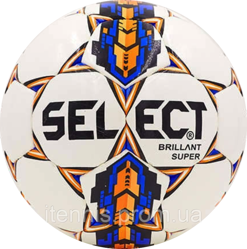 Футбольный мяч Select Brillant Super Бел./Син./Оранж.