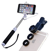 Apexel 4 в 1 выдвижная Monopod селфи палочка объективе широкий угол макро объектив телефона 96CX3, фото 2