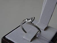 Серебряное родированное кольцо, фото 1