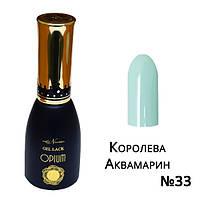Гель лак Королева Аквамарин №33 Nika Nagel 10 мл