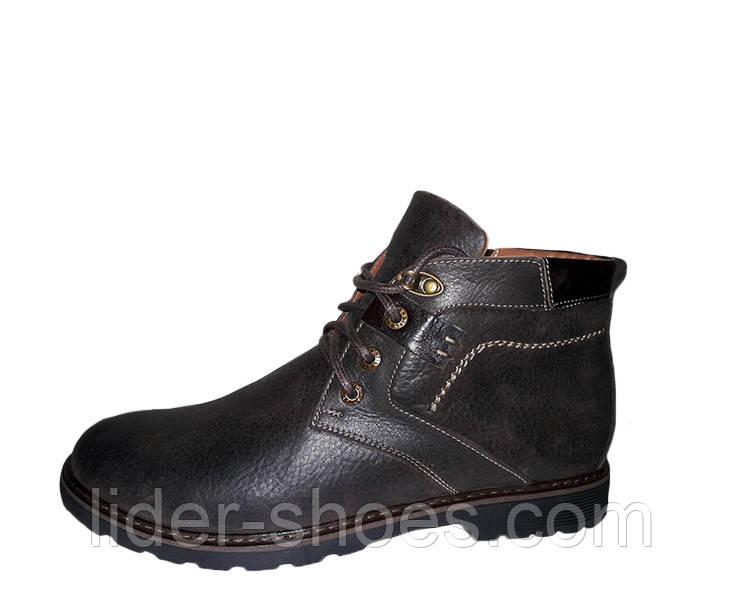Мужские зимние ботинки классика на шнуровке