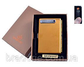 Портсигар USB зажигалка на 10 сигарет 4846