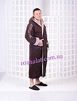 Тёплый мужской халат с капюшоном
