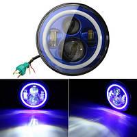 7 дюймов 6000k LED hi-lo пучка фар гало угол глаза белый ДРЛ синий повернуть свет для jeep wrangler