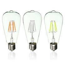 E27 ретро Edison глобус луковицы 6w винт LED глыбы лампочки RGB красочный свет лампы с низким энергопотреблением AC220V, фото 3