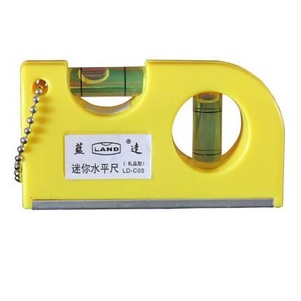 Mini Portable Key Chain Level Измерение Инструмент Деревообработка Инструмент с пузырьками, фото 2