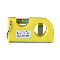 Mini Portable Key Chain Level Измерение Инструмент Деревообработка Инструмент с пузырьками, фото 3