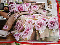 Полуторное постельное белье  с ефектом 3D розы