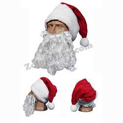 Борода Санта Клауса 45 см