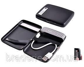 Портсигар и USB зажигалка на 20 сигарет 4847